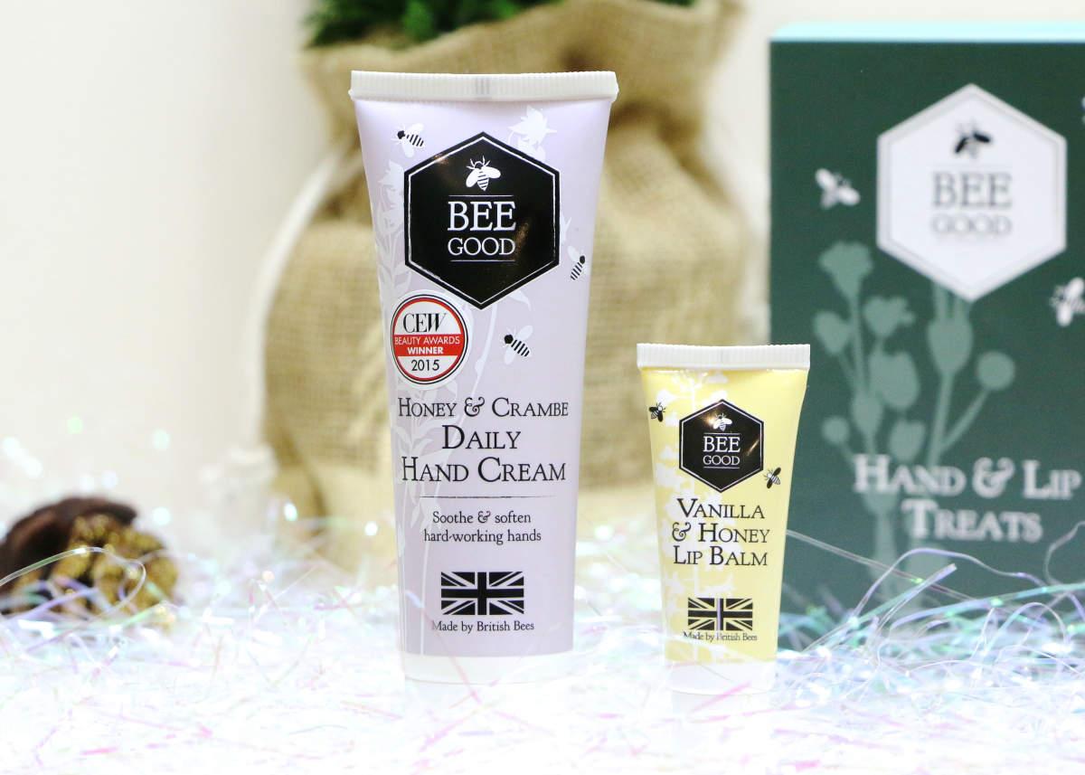 christmas gift bee good daily hand cream lip balm