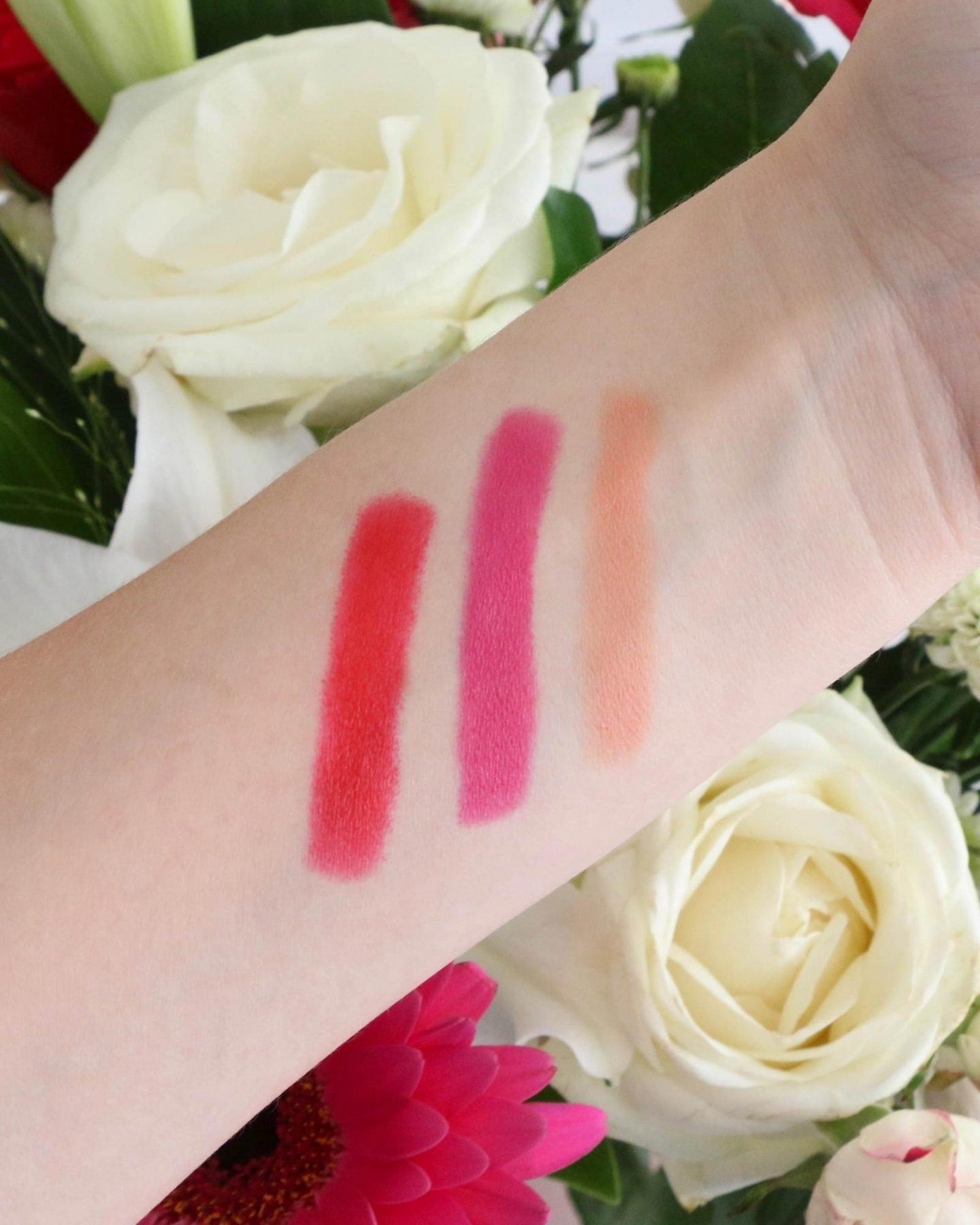 Antipodes Moisture Boost Lipstick swatches