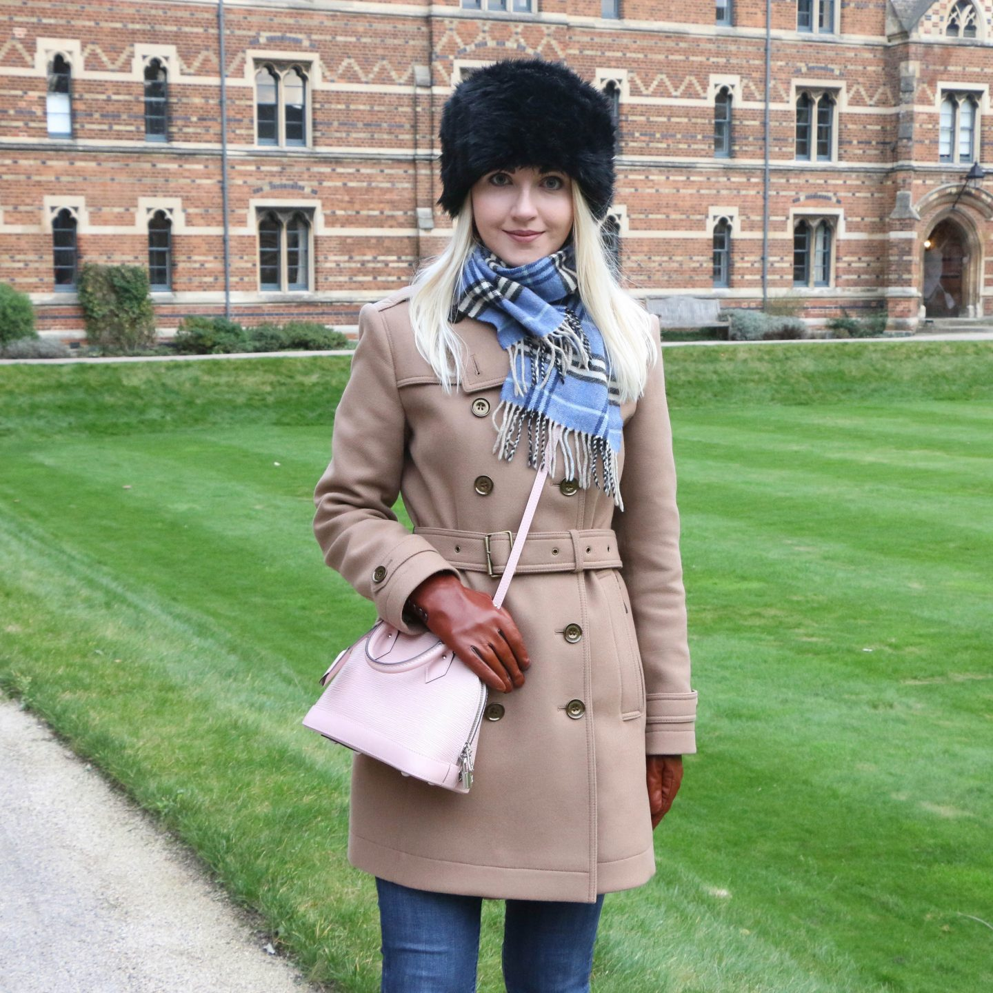 fashion blogger outfit post at keble college oxford