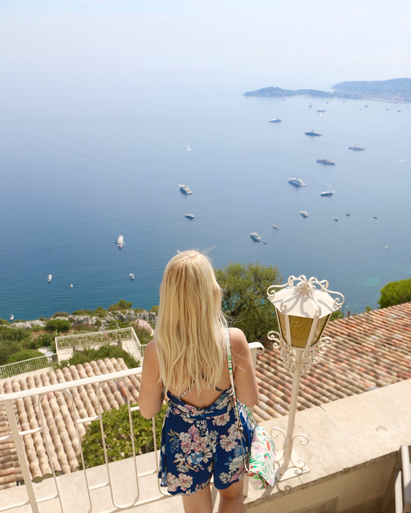 girl overlooking the french riviera
