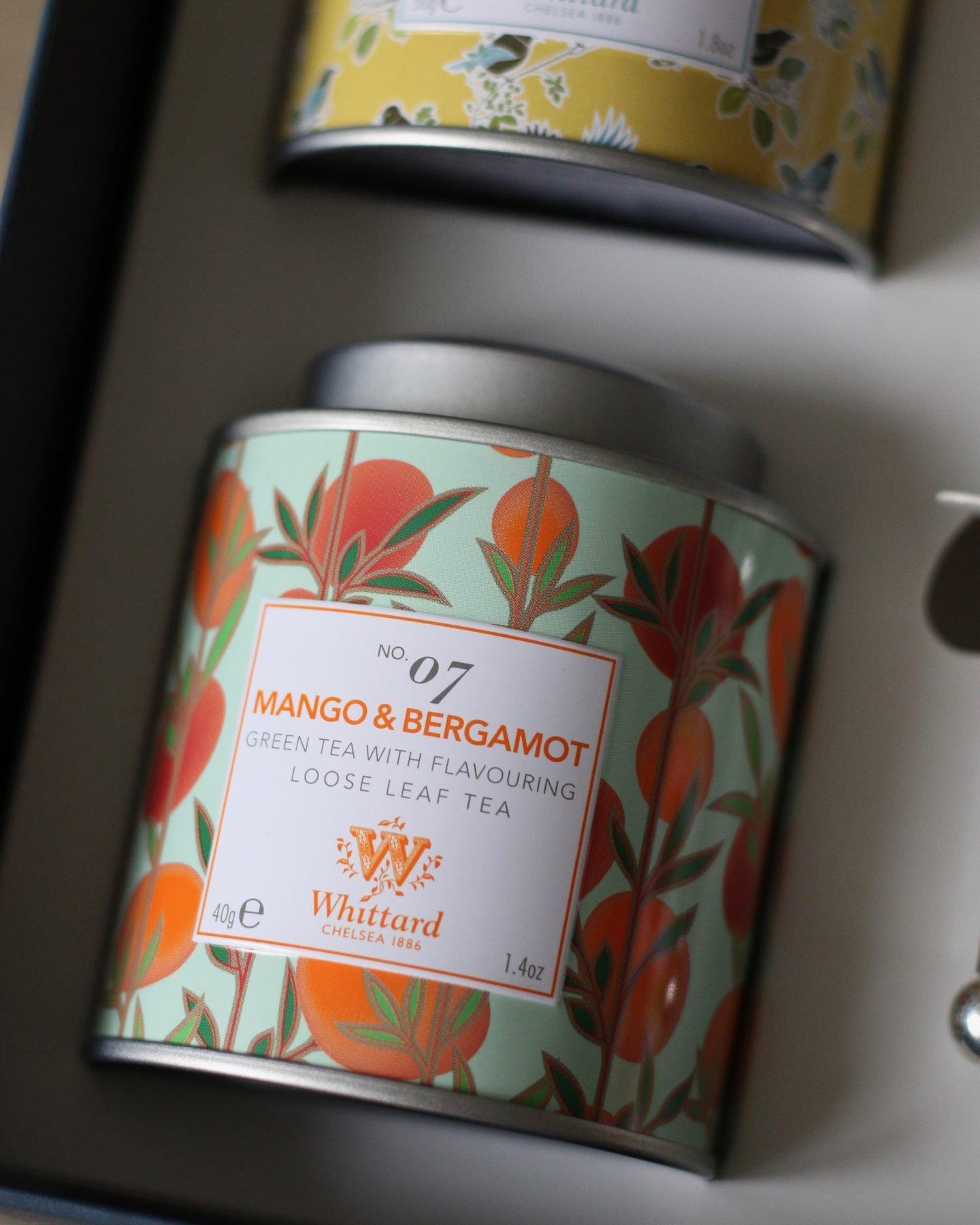 whittard mango & bergamot green loose leaf tea