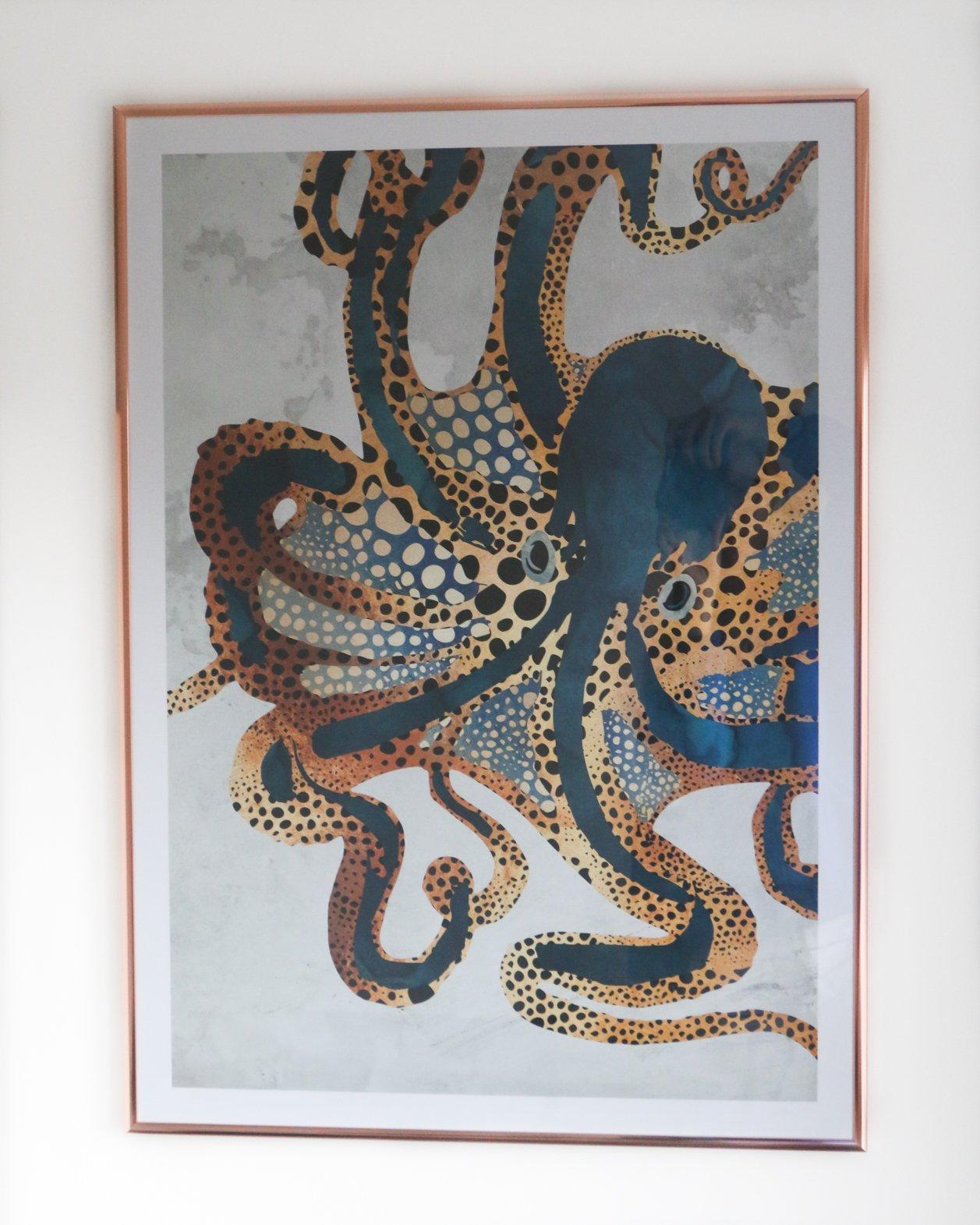 desenio Underwater Dream octopus poster