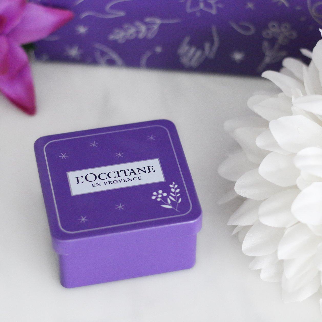 l'occitane lavender soap in a tin